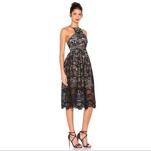 Elliatt In The Air Lace Fit & Flair Dress Sz M